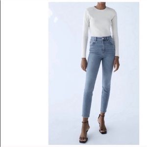 Zara High Rise Vintage Skinny Ankle Length Jeans